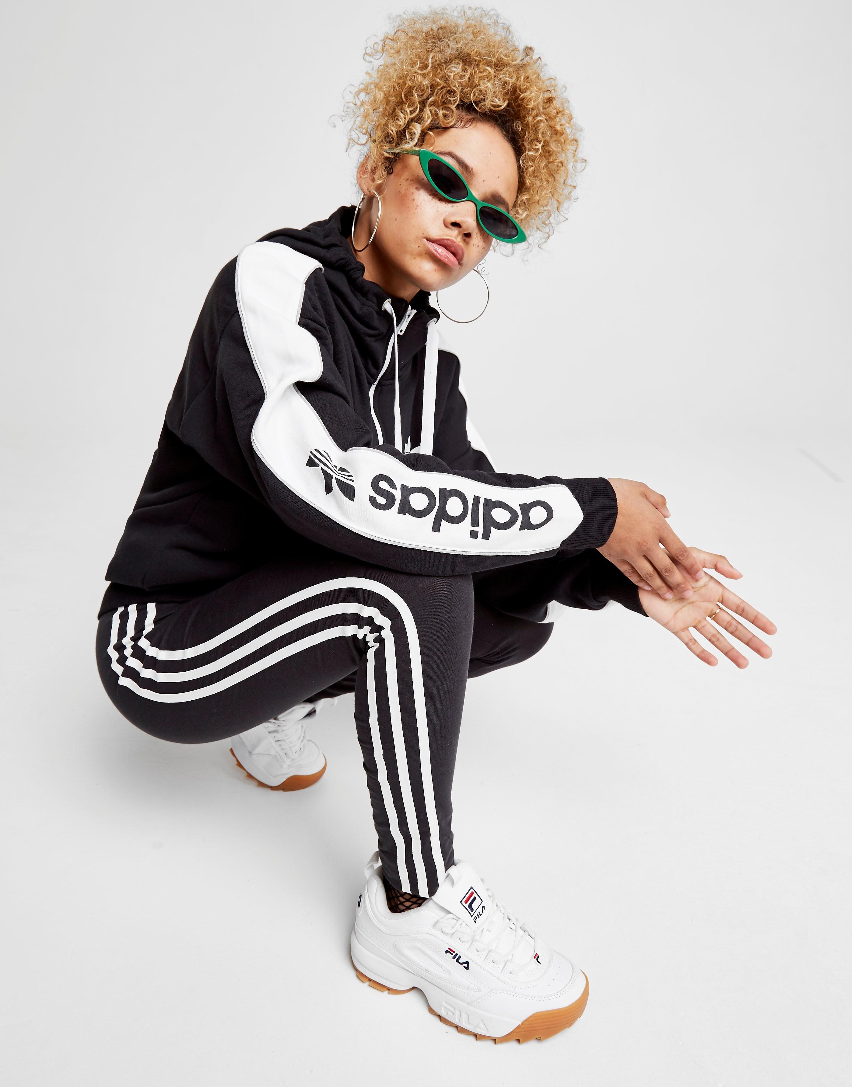 adidas Originals Linear 1/2 Zip Hoodie Dame