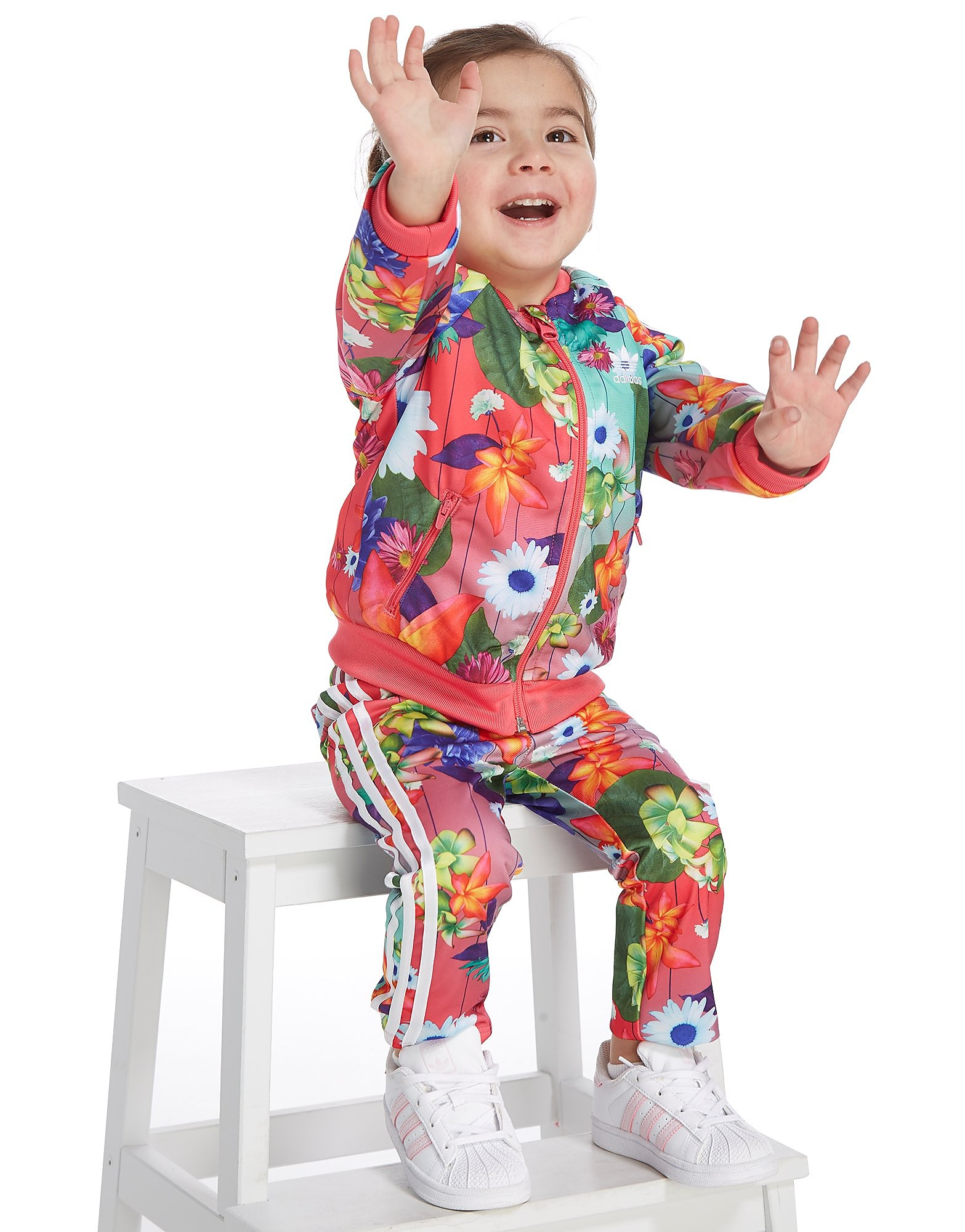 adidas Originals Girls' All Over Print Superstar Tracksuit Infant
