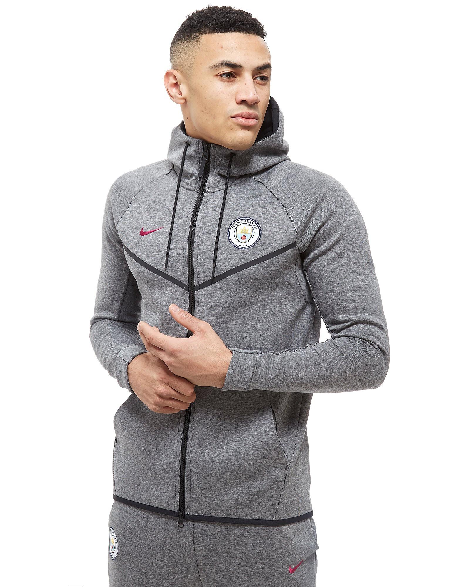 Nike Manchester City FC Tech Fleece Hættetrøje Herre