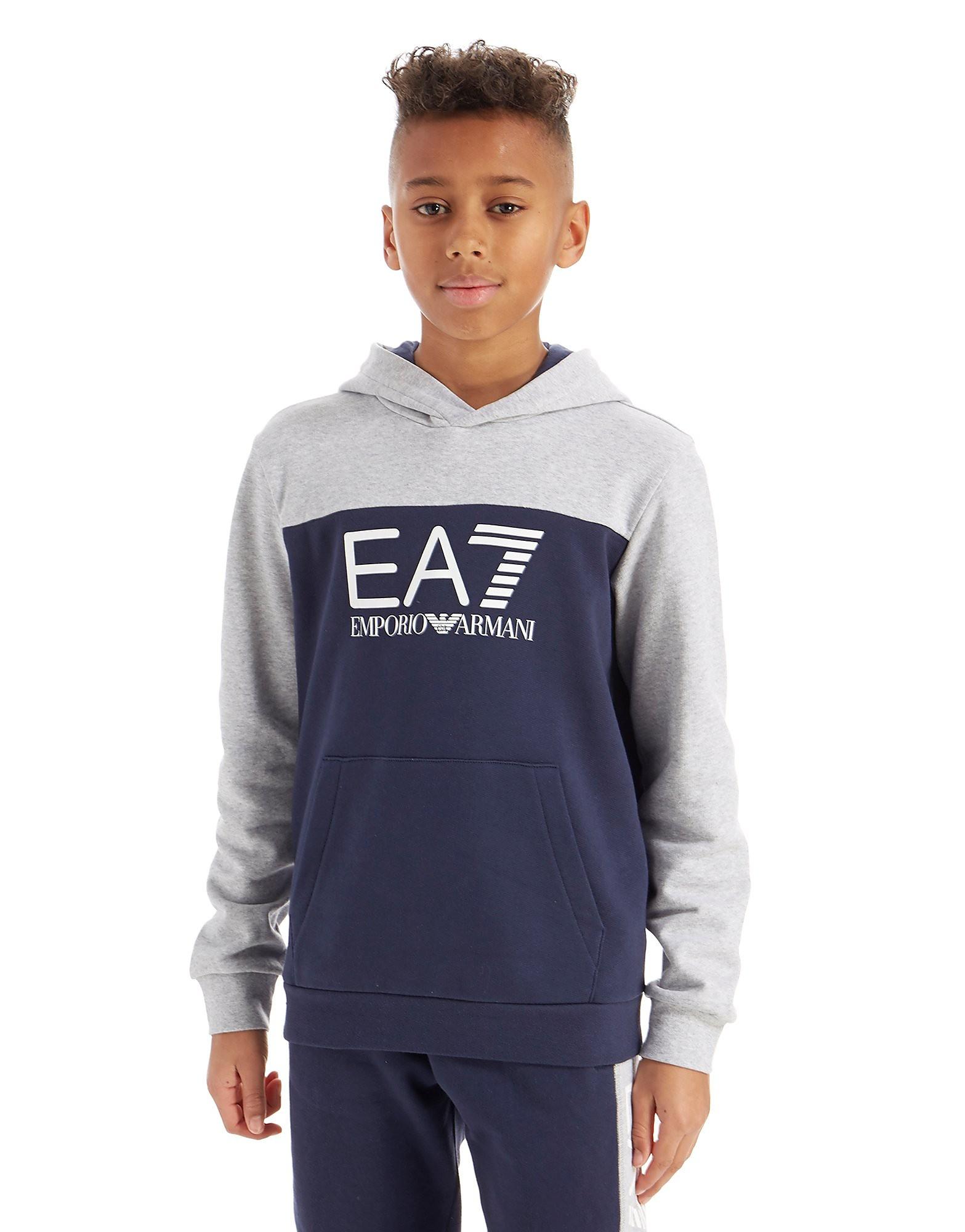 Emporio Armani EA7 Colourblock Fleece Overhead Hoodie Junior