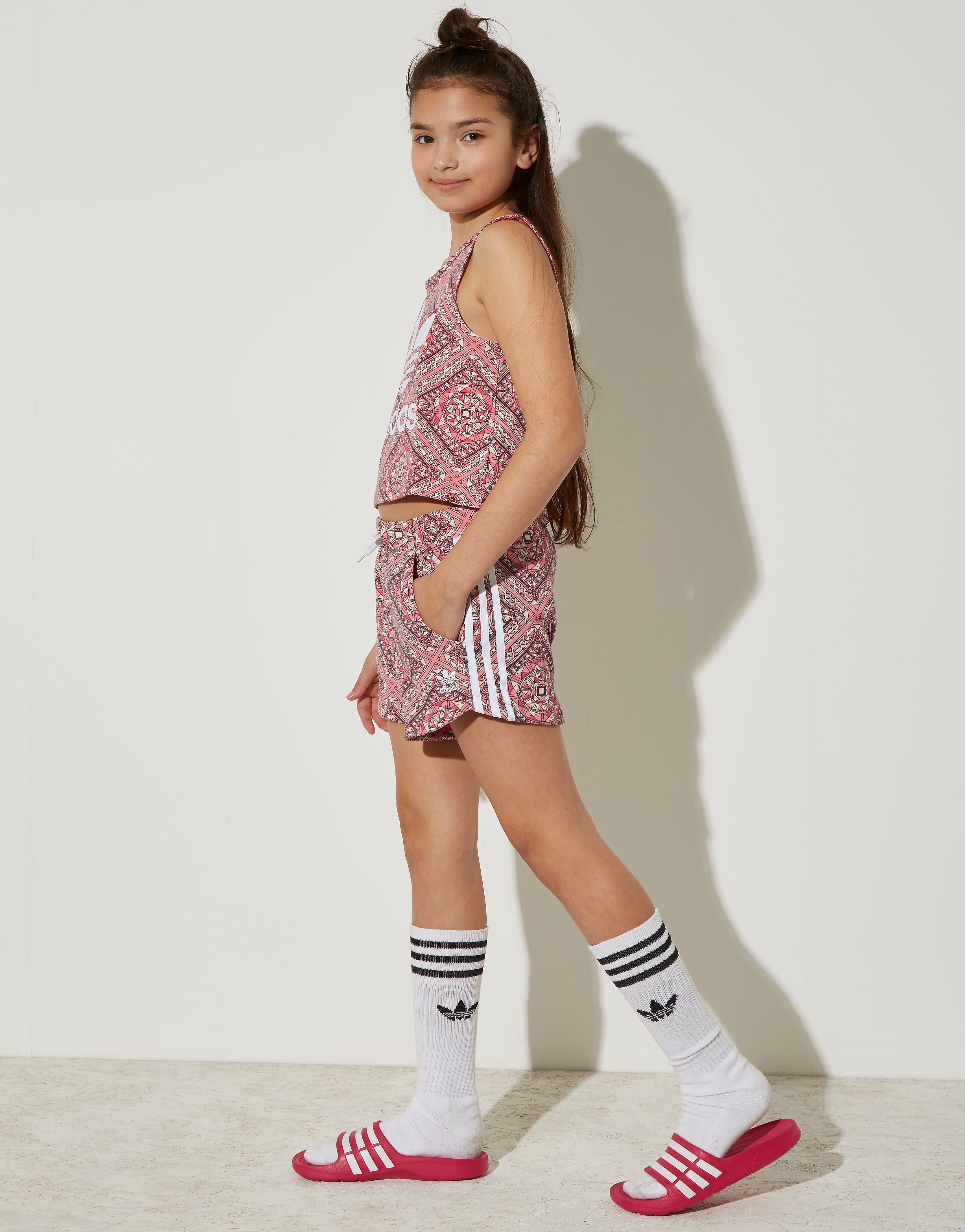 adidas Originals Girls' Graphic All Over Print Shorts Junior