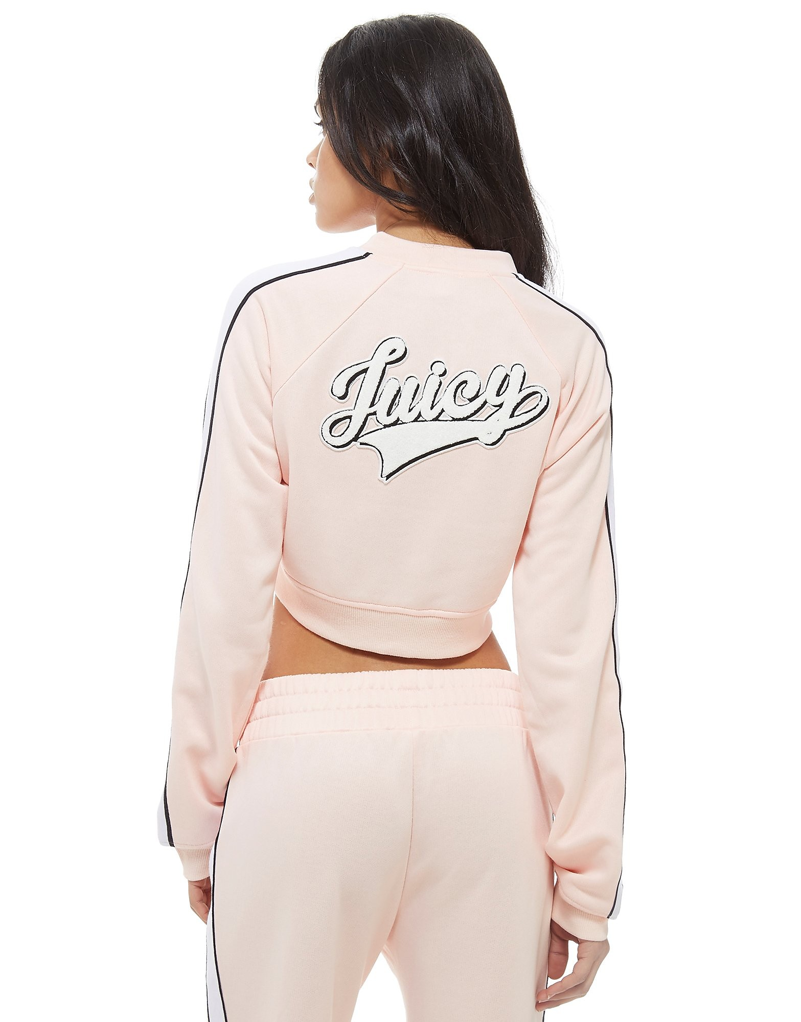 Juicy by Juicy Couture Baseball Crop Full Zip Jacket