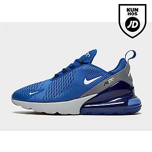 menn Nike Air Max 270 BIG LOGO Sort Gul rød Running sko