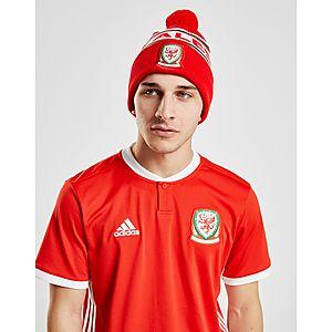 Official Team Gorro tejido con borla y con texto de Gales ... 4fa0e37974fc