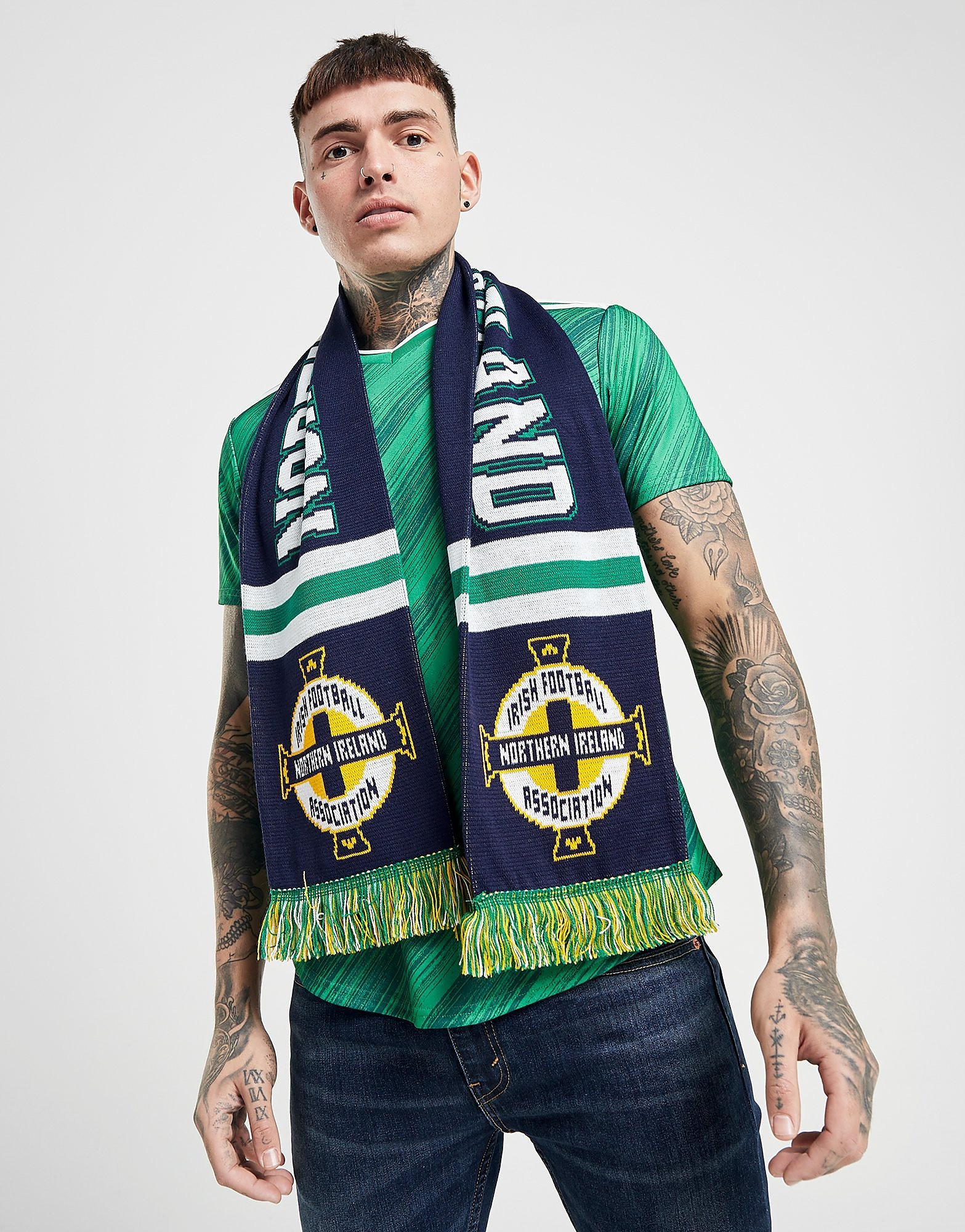 Official Team Northern Ireland Jacquard Scarf