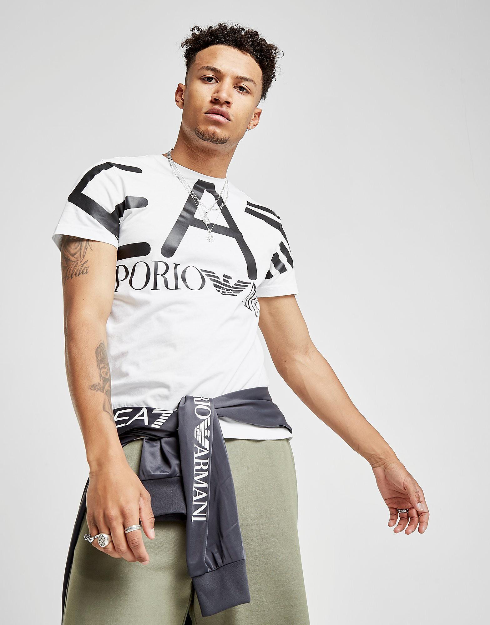 Emporio Armani EA7 camiseta Large All Over Brand