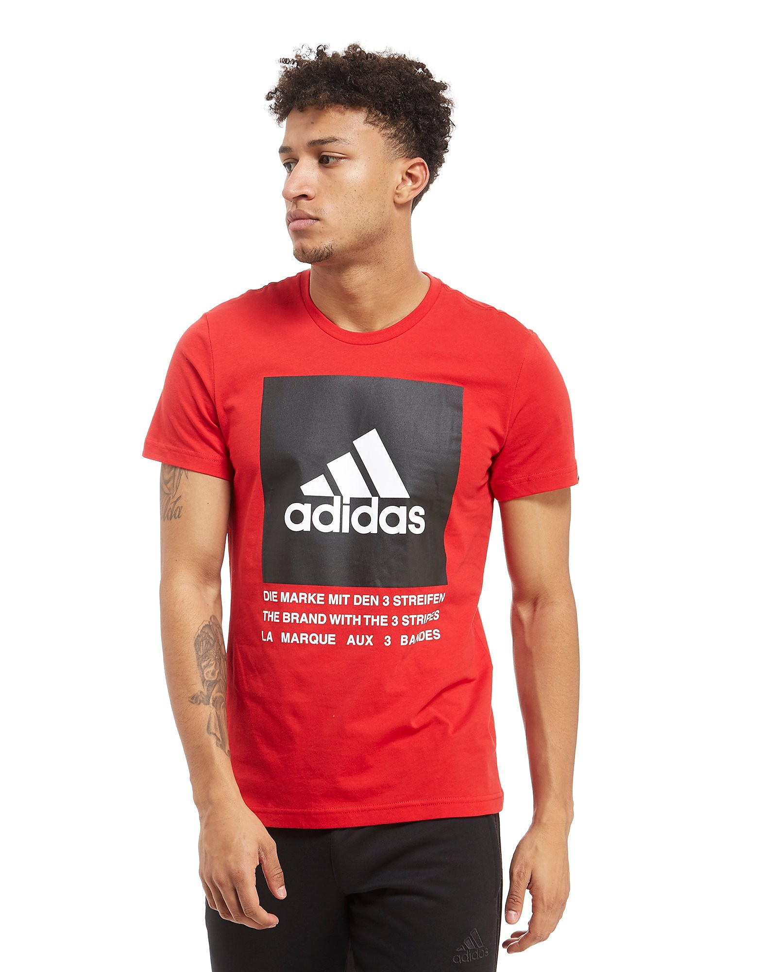 adidas camiseta 3-Stripes Box