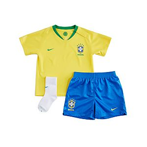 best sneakers 26d88 fbef9 Nike conjunto Brasil 2018 1.ª equipación para bebé ...