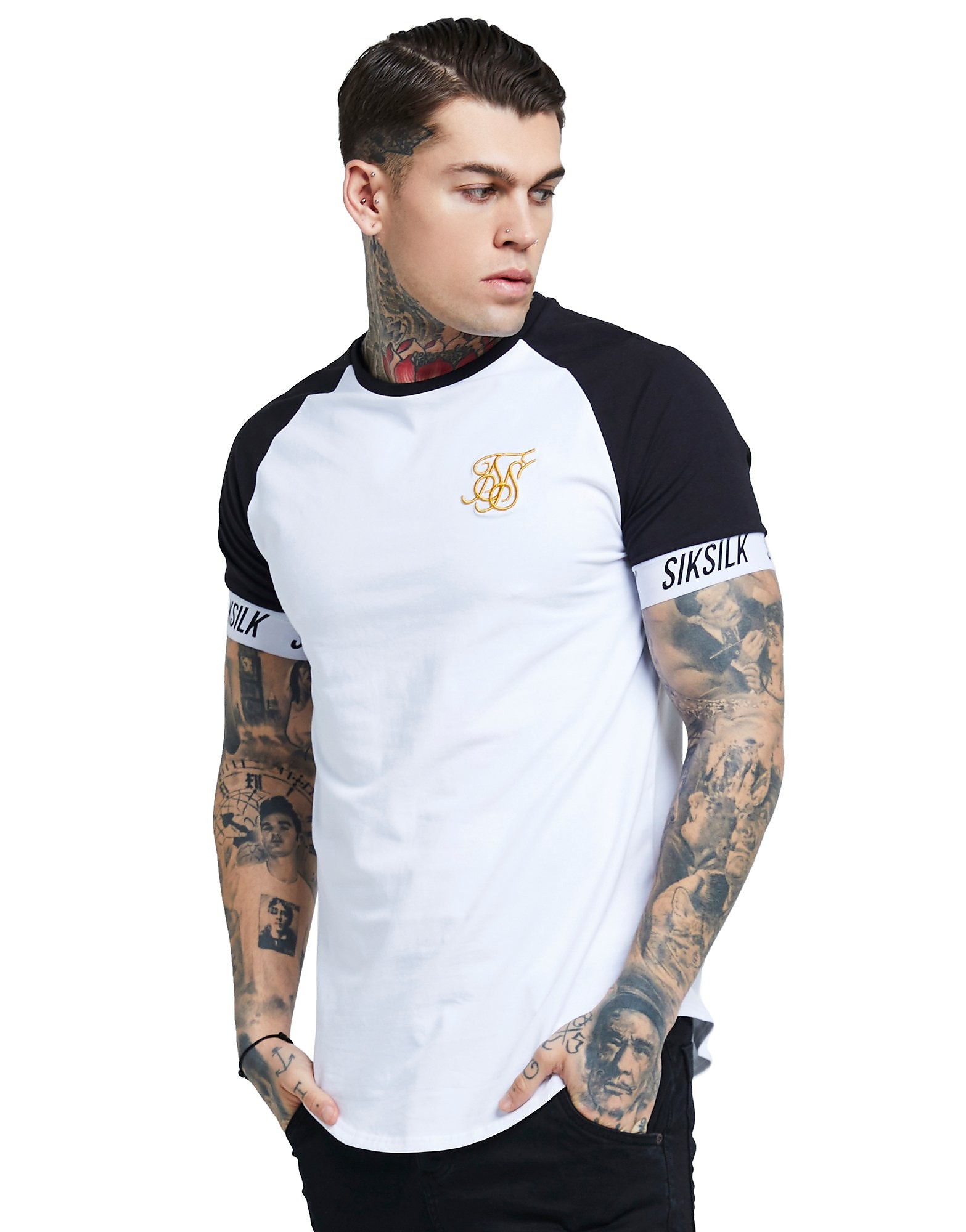 SikSilk camiseta Raglan Tape