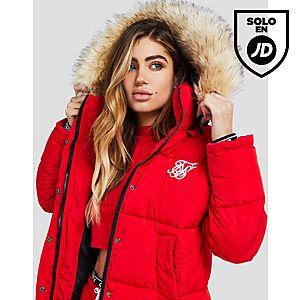e304a1a0b65 SikSilk chaqueta Fur Hood Padded ...