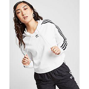 e42016f753f adidas Originals 3-Stripes Crop Overhead Hoodie ...