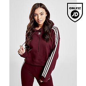 adidas Originals 3-Stripes Crop Overhead Huppari Naiset ... 206d57de48