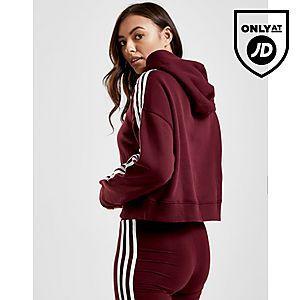 ... adidas Originals 3-Stripes Crop Overhead Huppari Naiset ab75c621b1