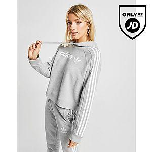 adidas Originals 3-Stripes Linear Overhead Huppari Naiset ... fadab878dc