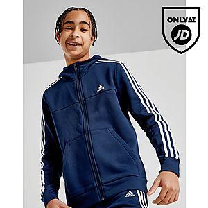 adidas Badge of Sport 3-Stripes Full Zip Huppari Juniorit ... 258ac5cbce