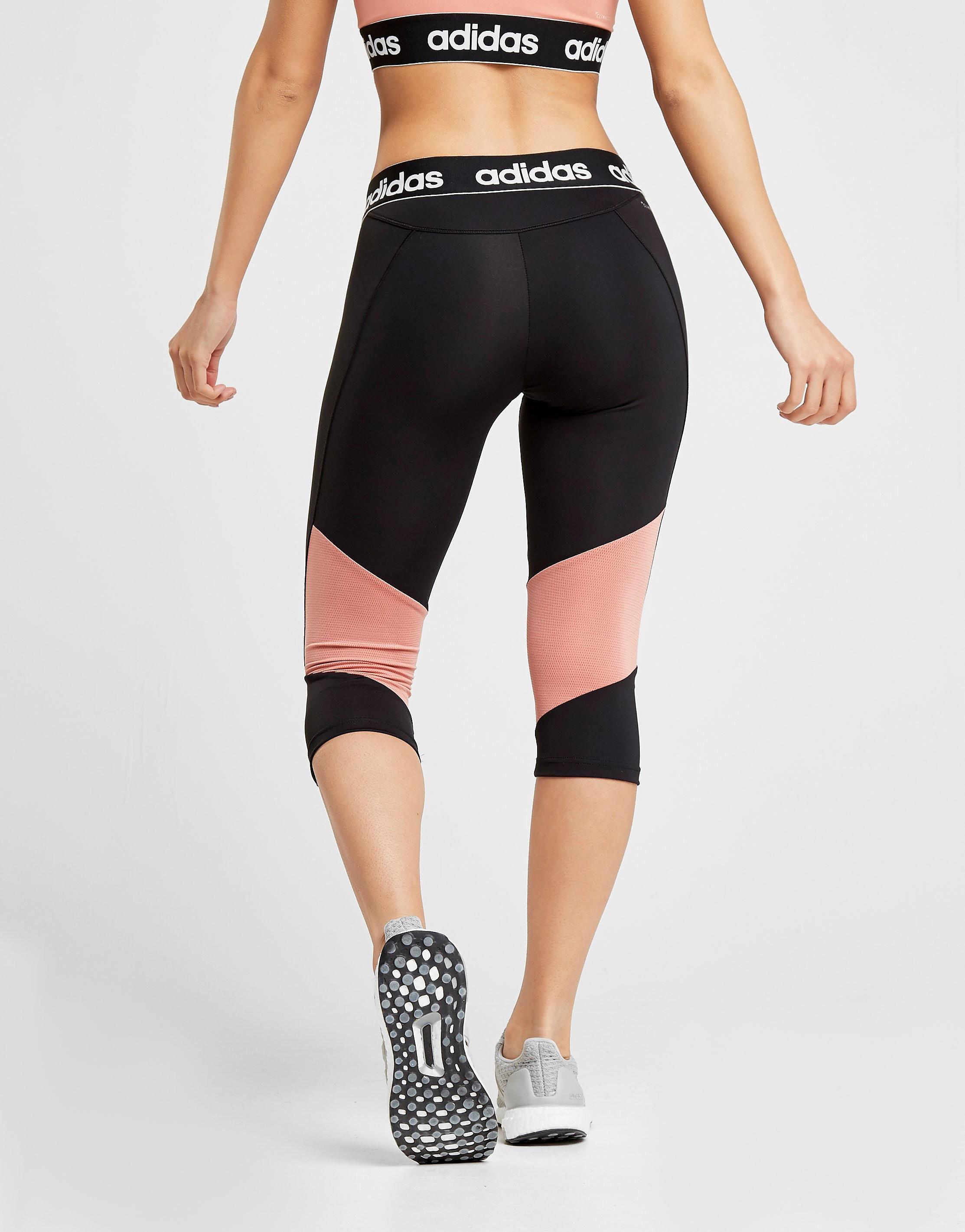adidas Legging Linear Mesh Capri Femme