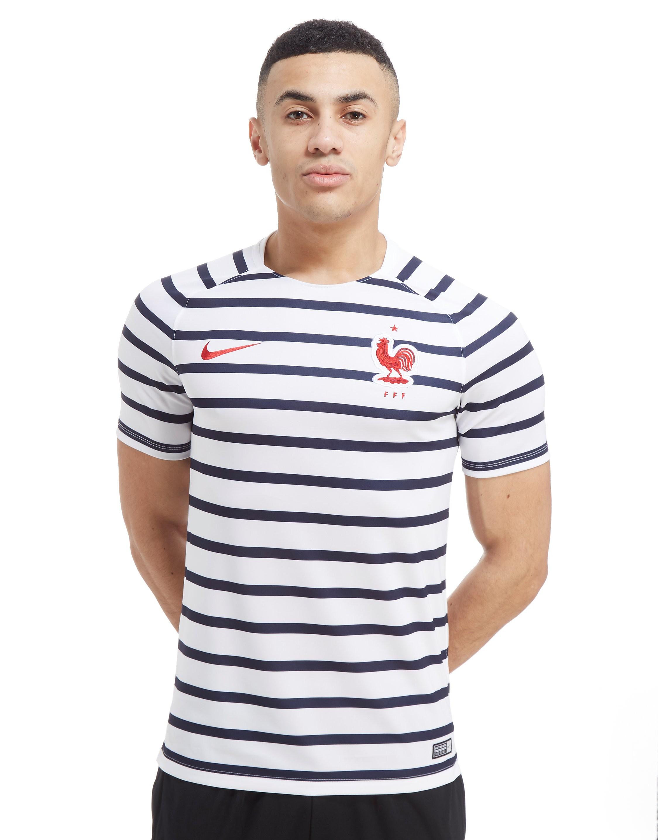 Nike Maillot d'avant match France Squad Homme