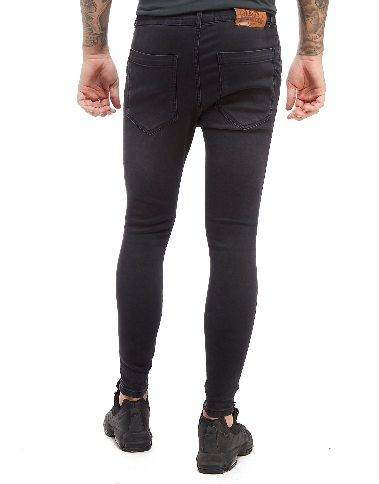 SikSilk Washed Ripped Jean Homme