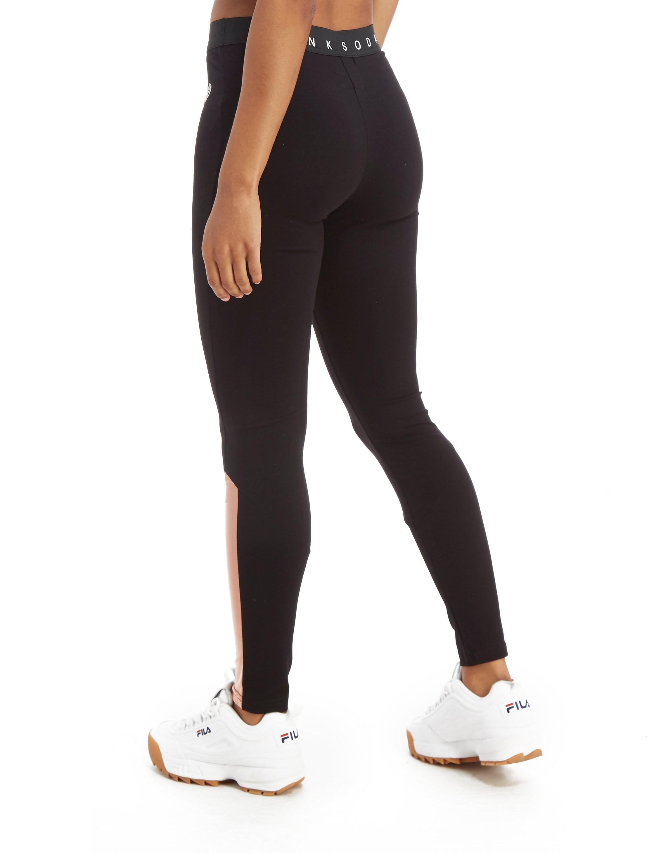 Pink Soda Sport Legging Mesh Panel Femme