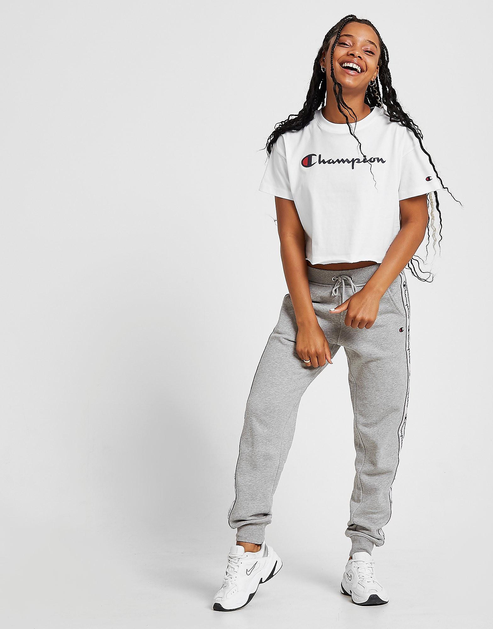 Champion T-shirt coupe-courte Crop Script Femme