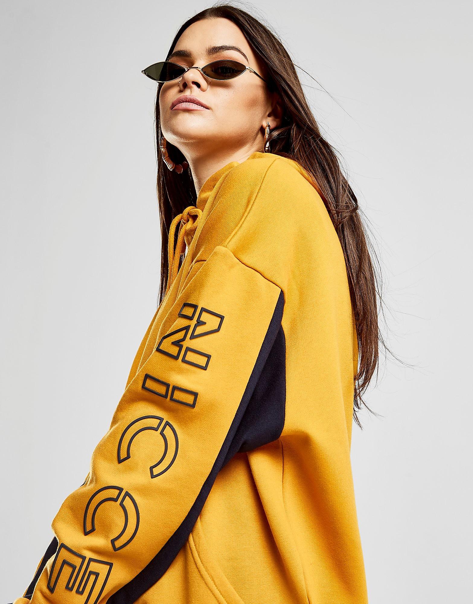 Nicce Contrast Sleeve Logo Hoodie