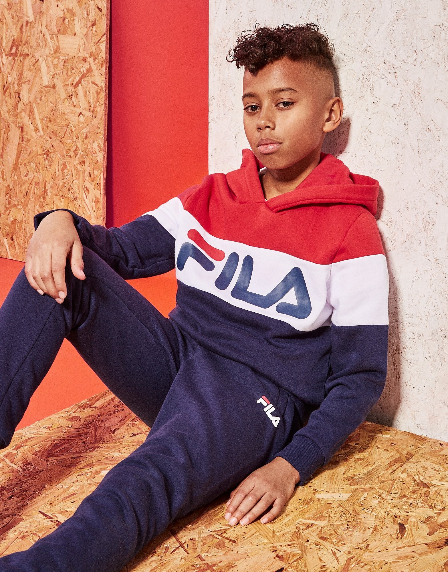 Fila Baltimore Colour Block Hoodie Junior