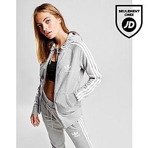 18925631495 adidas Originals Veste zippée à capuche 3-Stripes California Femme ...