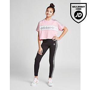 a59e0df188c5e ... adidas Originals Girls  Crop Linear T-Shirt Junior
