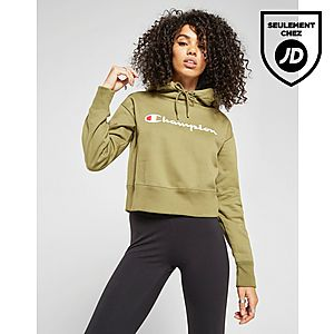 e786f0a91b51 ... Champion Sweat à capuche Tape Crop Femme