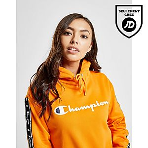 Champion Sweat à capuche Tape Crop Femme ... 65df8ce65087