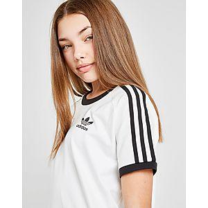 5a3747c706331 ... adidas Originals Girls  3-Stripes Short Sleeve Dress Junior