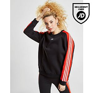 5fbbfa5860ae adidas Originals Sweat 3-Stripes Panel Crew Femme ...
