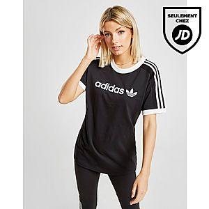 best authentic 6f3f7 ae3f9 adidas Originals T-shirt 3-rayures Linéaire Femme ...
