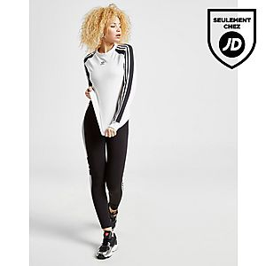 3067c05d5f25f ... adidas Originals T-shirt à manches longues 3-Stripes Panel Femme