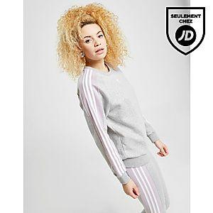 49977aca95c09 adidas Originals 3-Stripes Panel Crew Sweatshirt ...