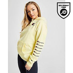 0d139ce670a6 Champion Sweat à capuche Boyfriend Logo Répété Femme ...