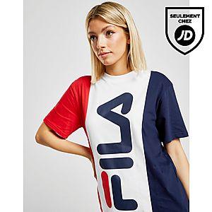 beff14f793f Fila T-shirt Panel Boyfriend Femme ...