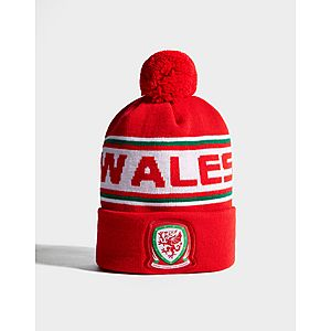 243c89e5e93 ... Official Team Wales Text Knitted Bobble Hat