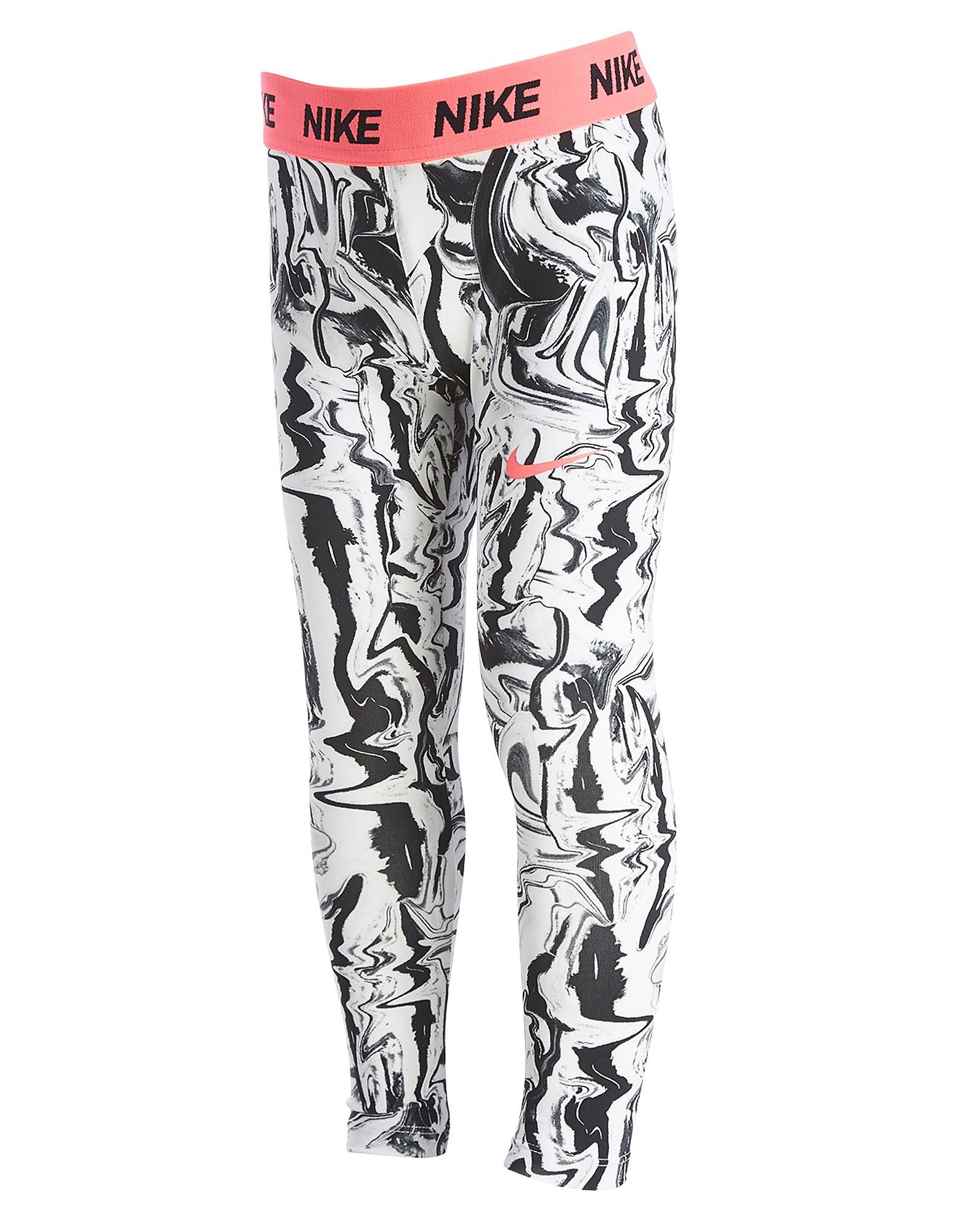Nike Girls' Marble All Over Print Leggings Children