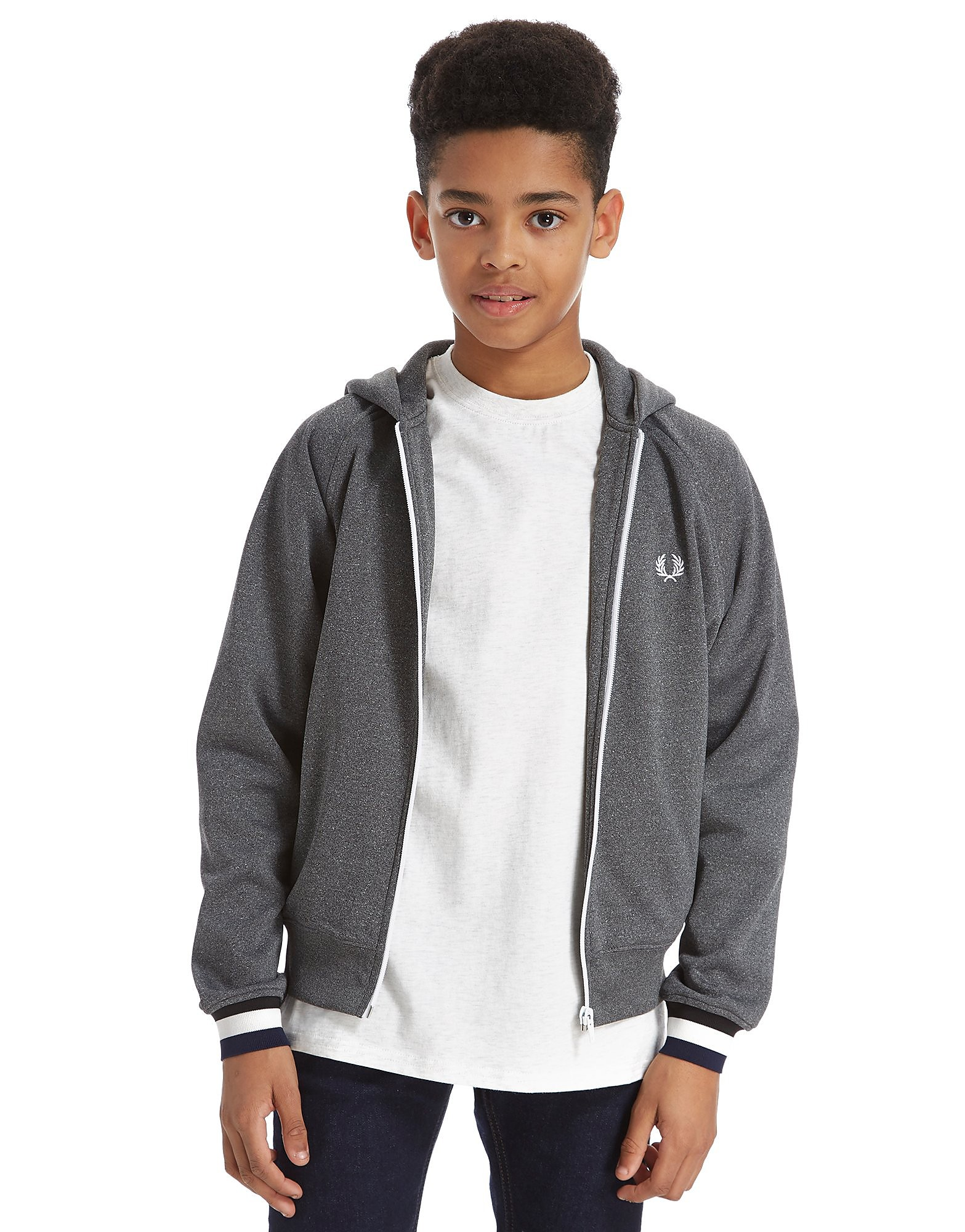 Fred Perry Hooded Track Top Junior