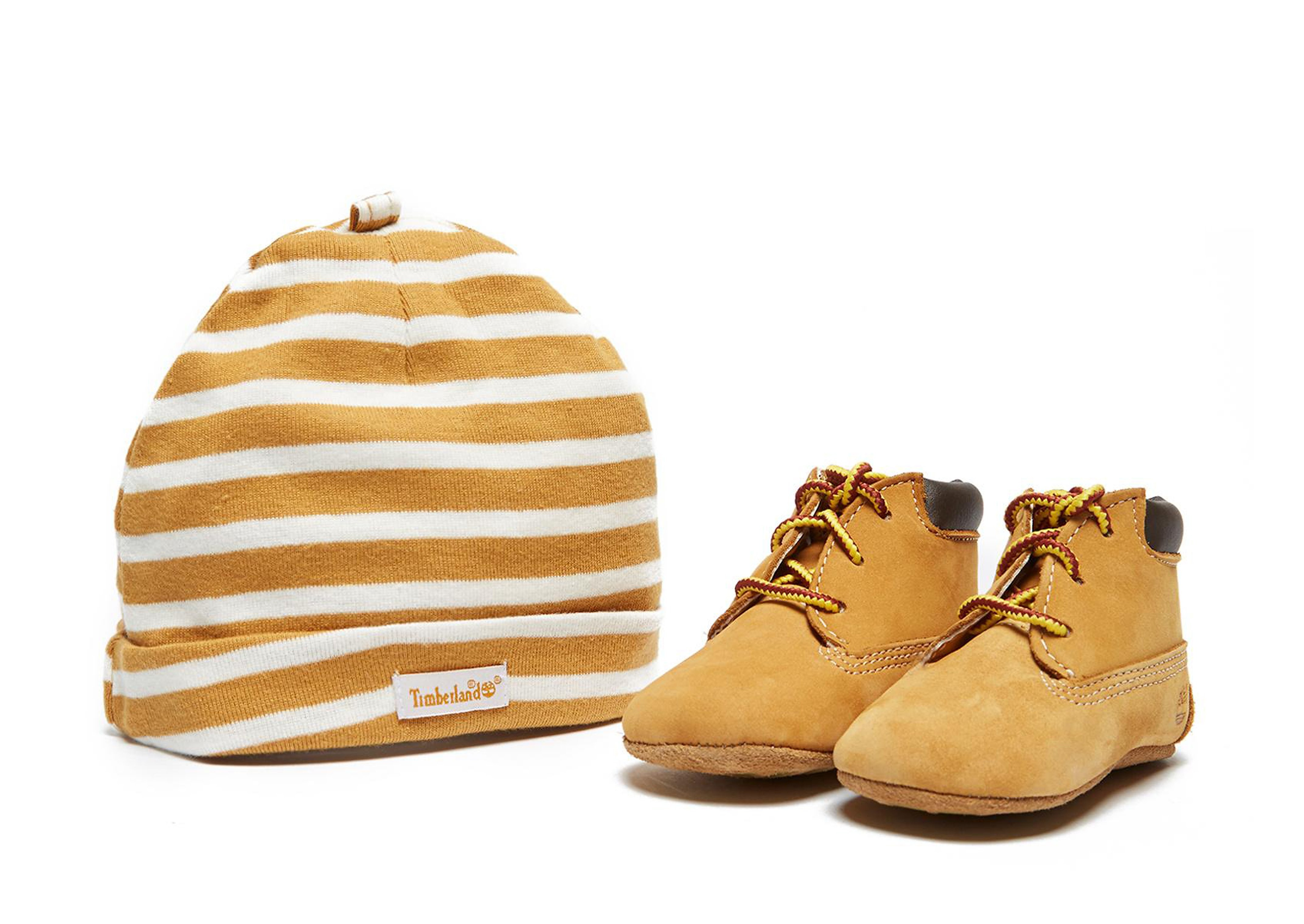 Timberland Bootie & Hat Set Crib Infant
