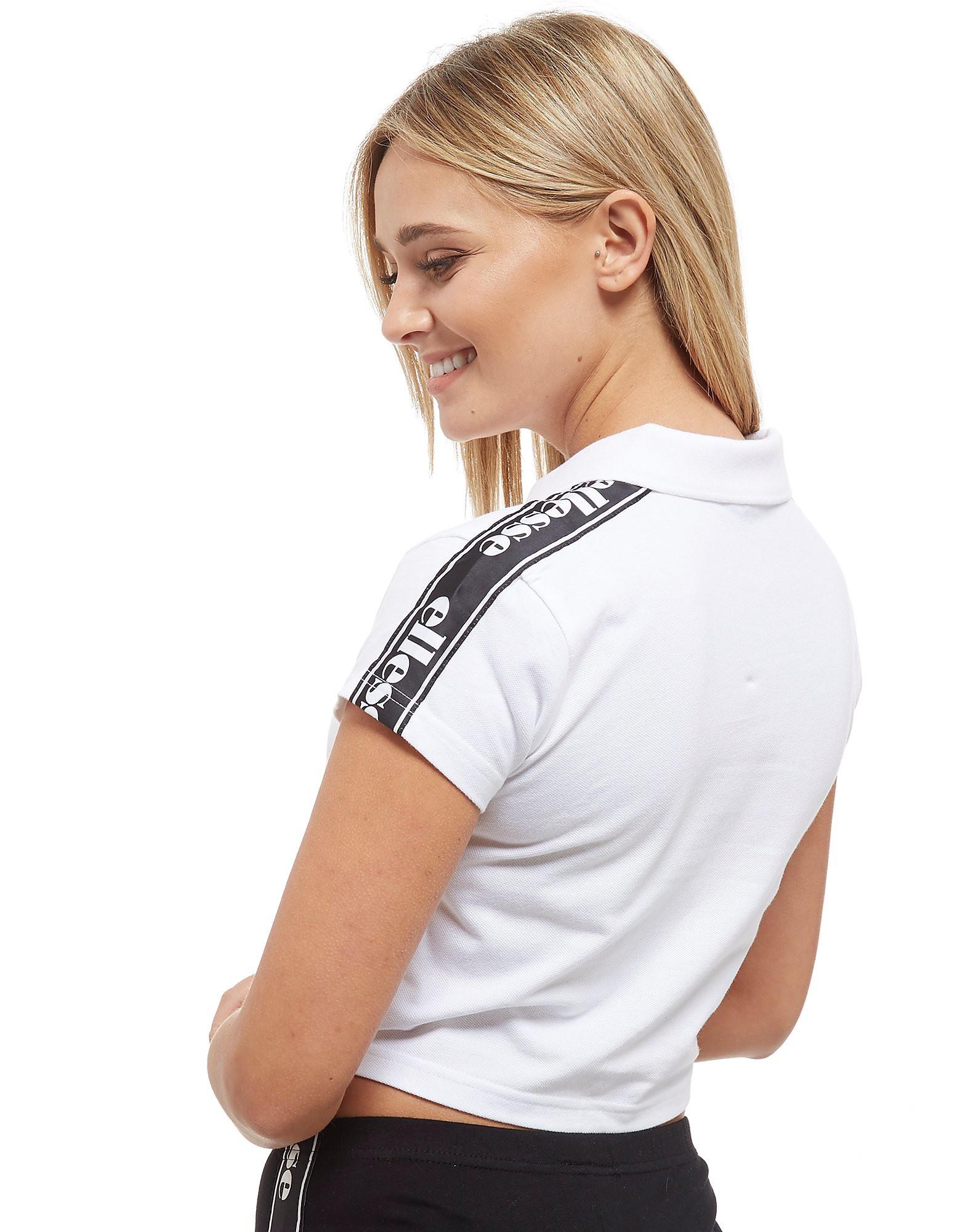 Ellesse Tape Crop 1/2 Zip Polo Shirt