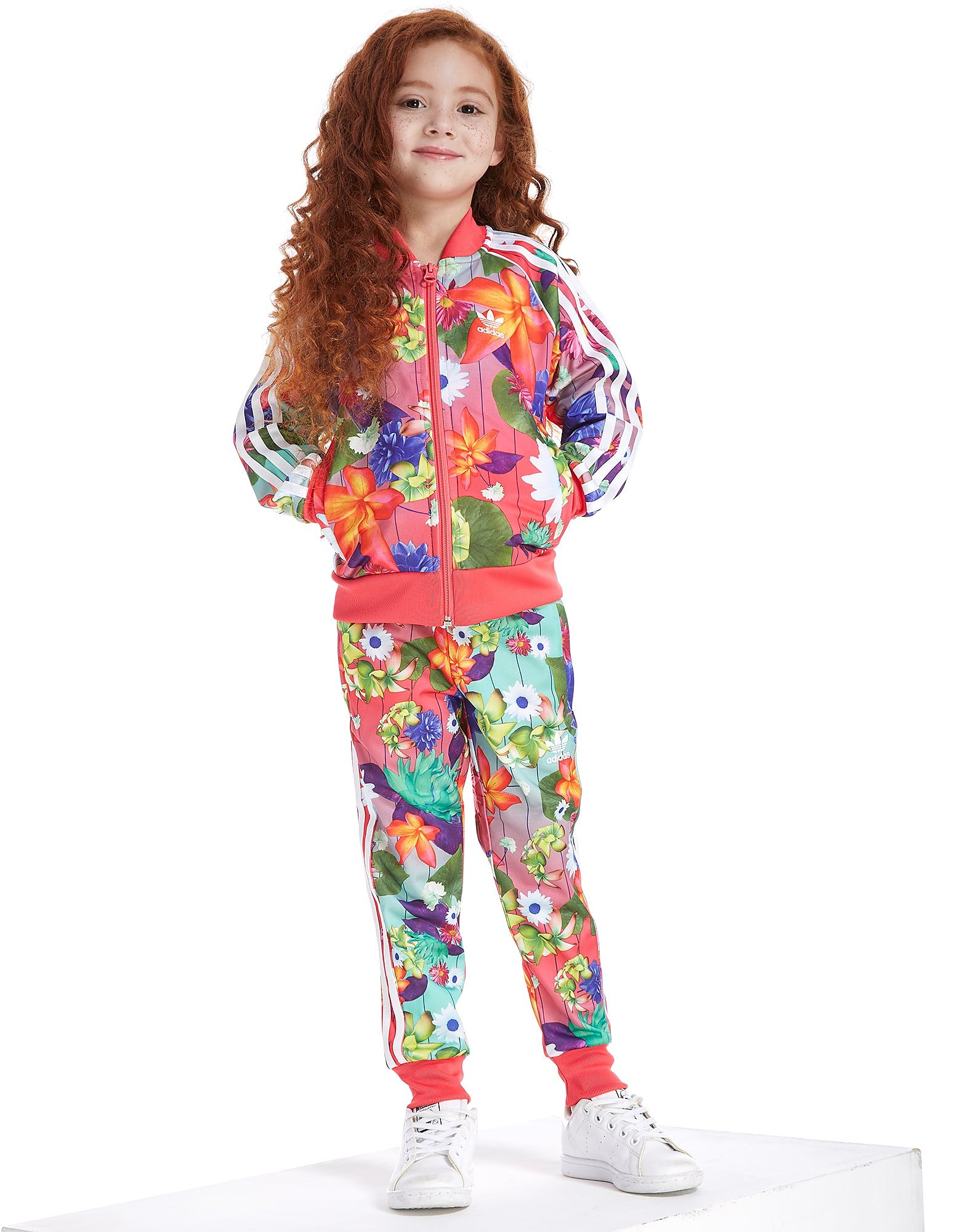 adidas Originals Girls' Superstar All Over Print Tracksuit Children