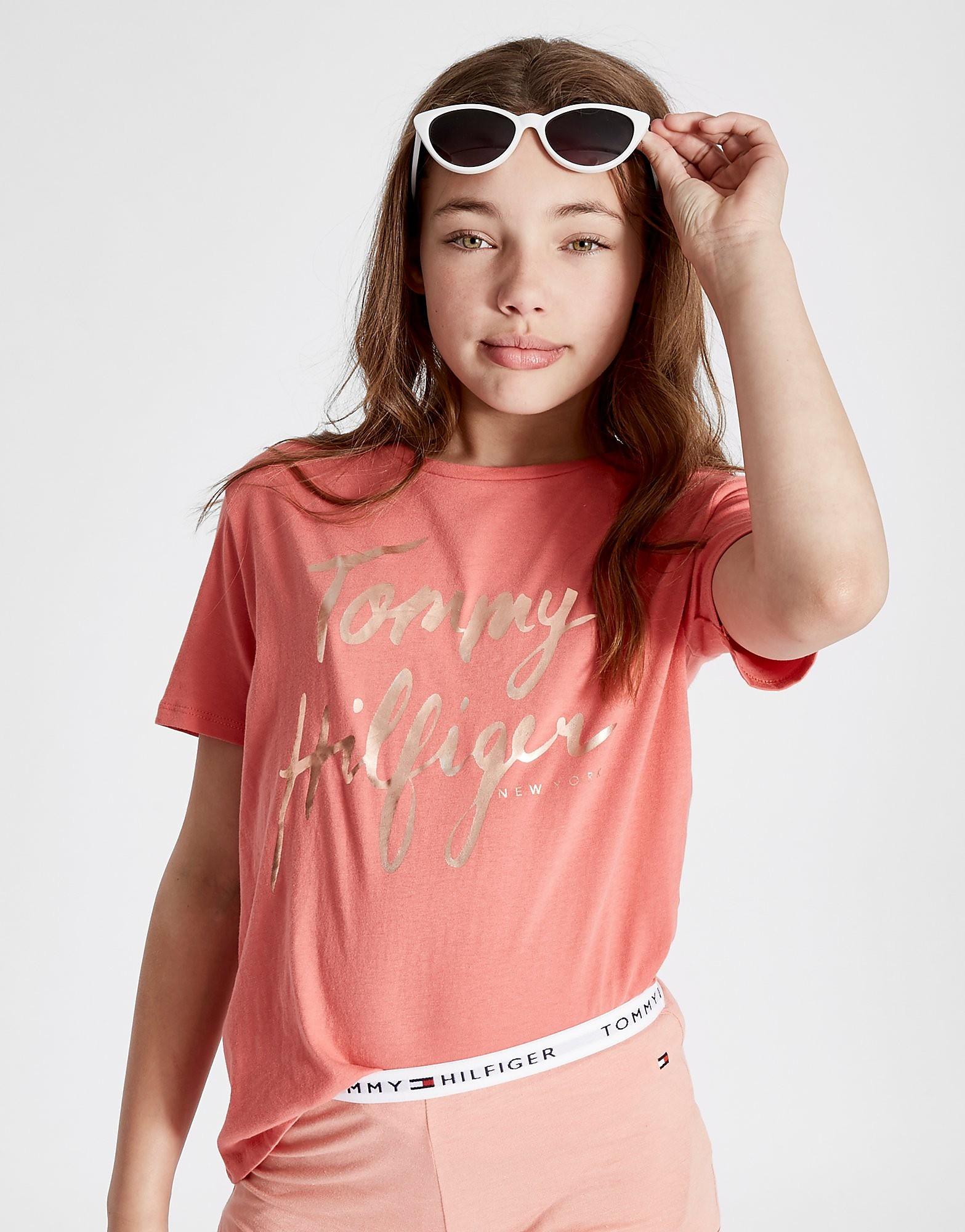 Tommy Hilfiger Girls' Foil Script T-Shirt Junior