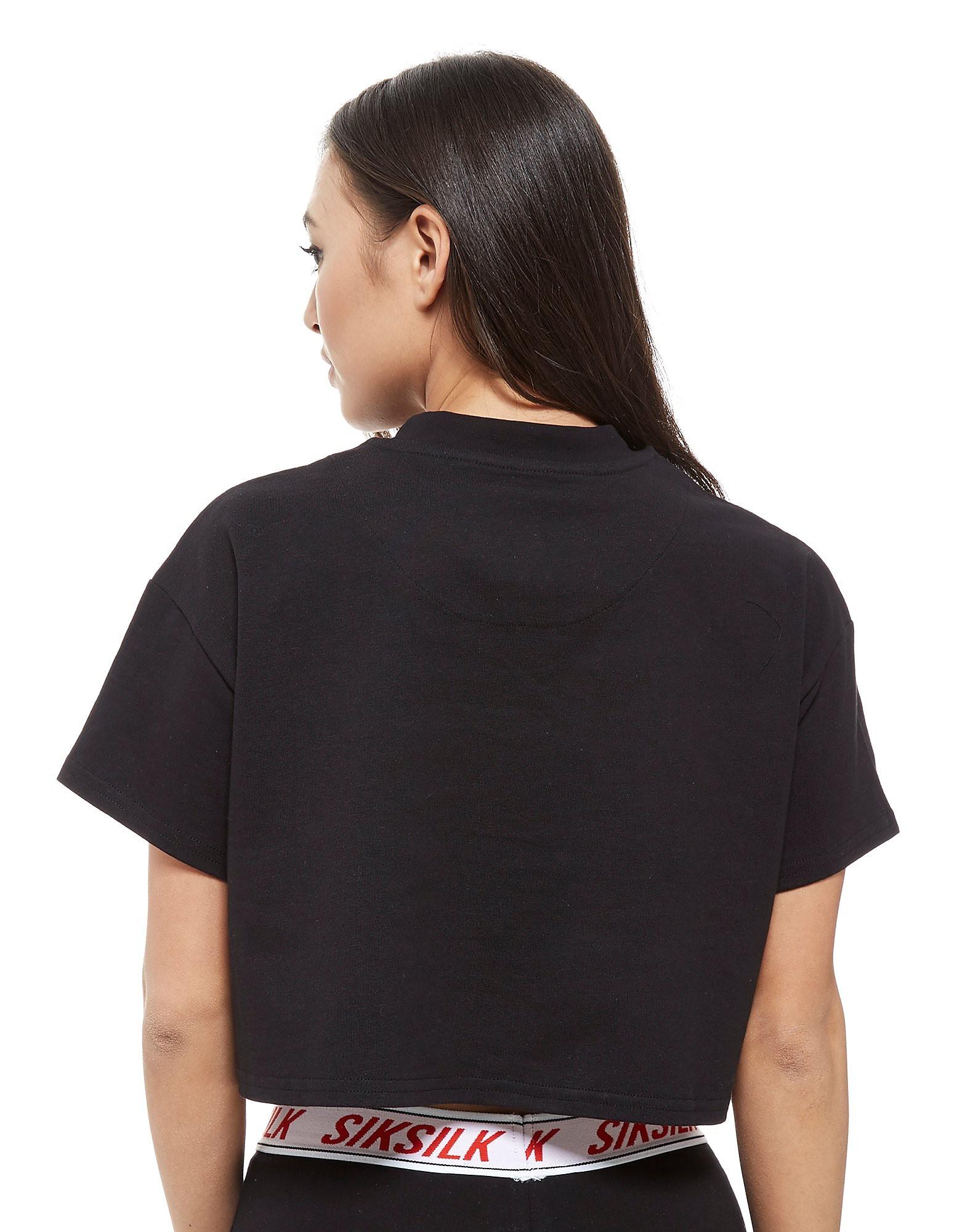 SikSilk Crop Logo T-Shirt
