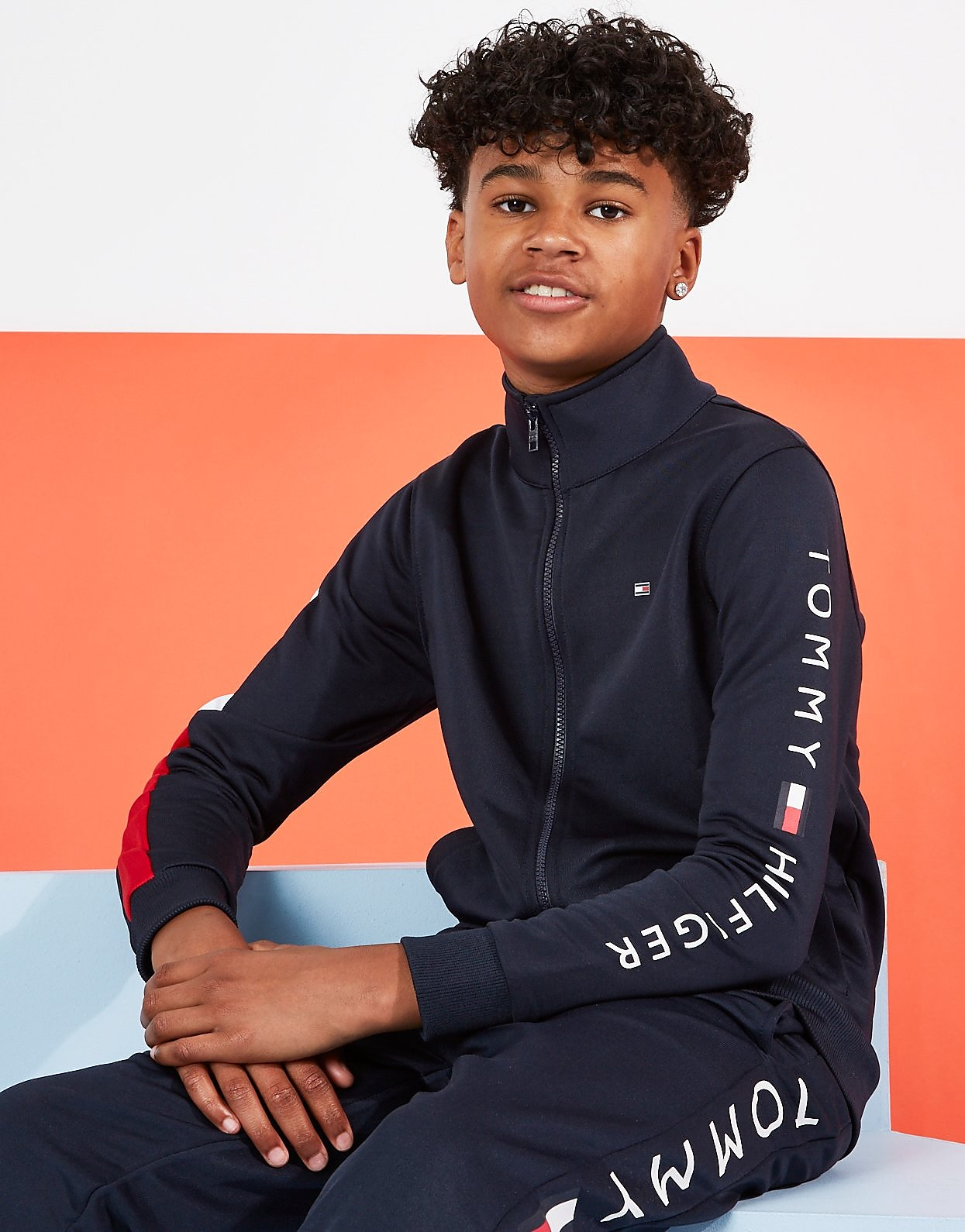 Tommy Hilfiger Flag Track Jacket Junior