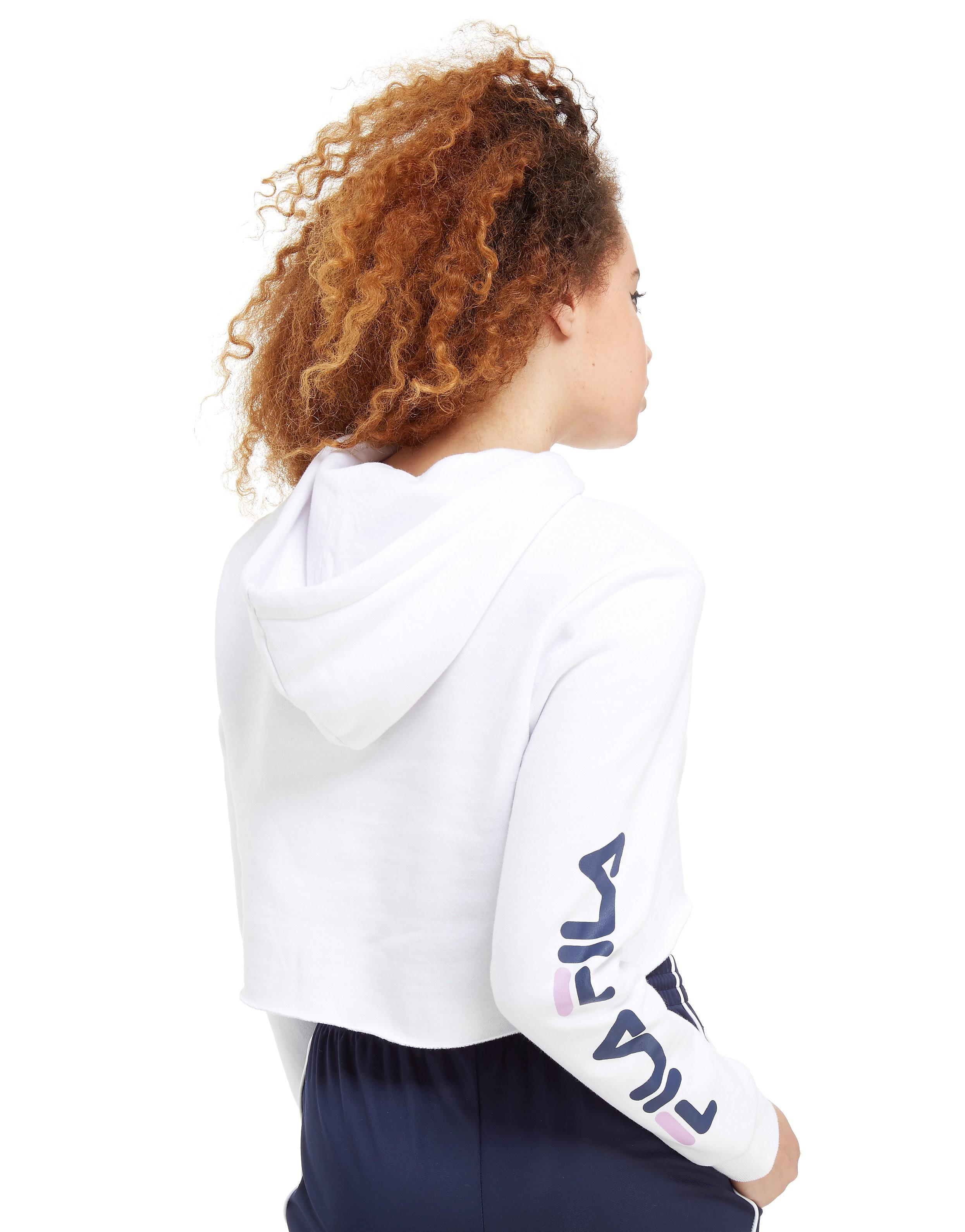 Fila Logo Sleeve Crop Hoodie