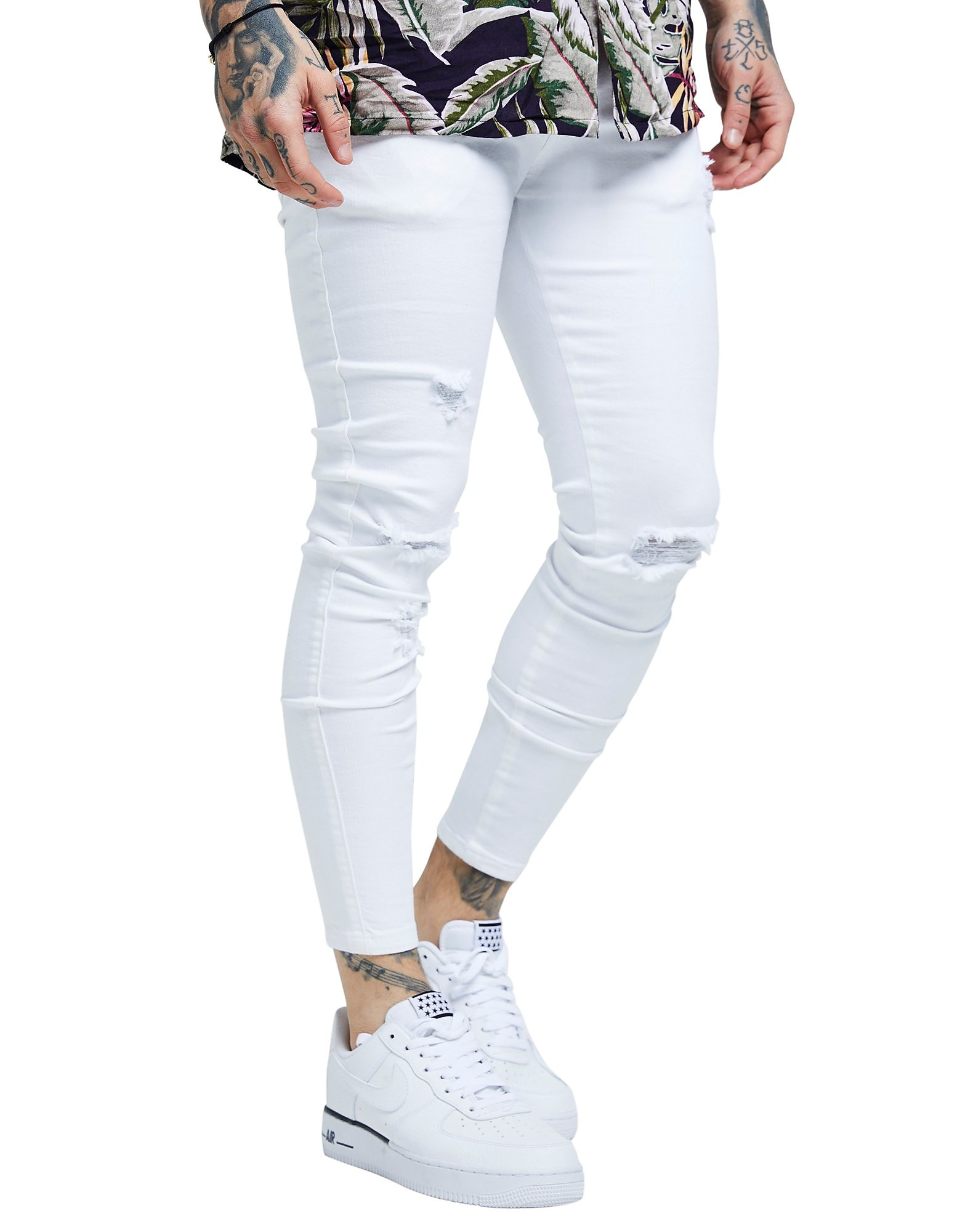 SikSilk Ripped Denim Jeans