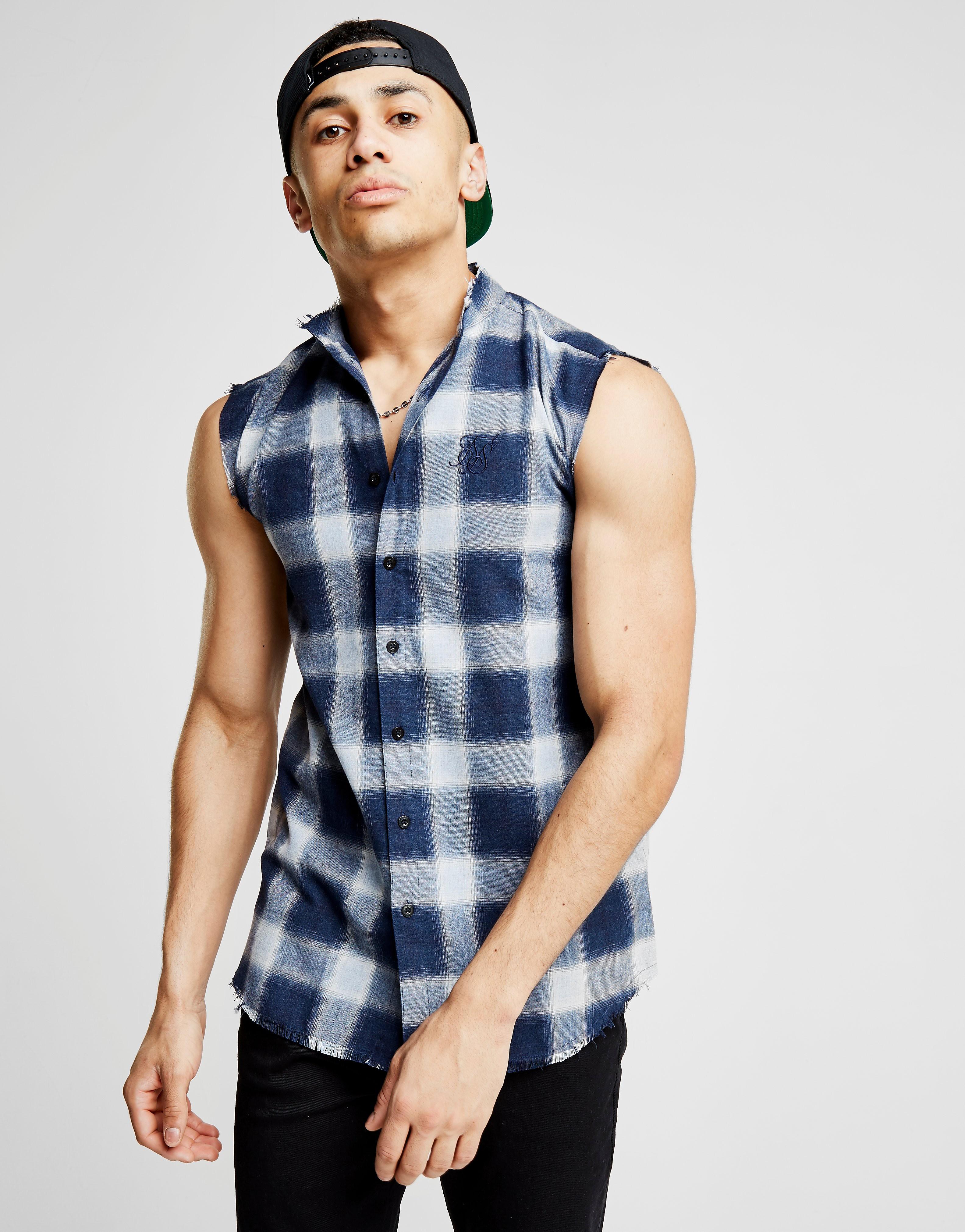 SikSilk Sleeveless Flannel Shirt