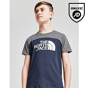 The North Face Colour Block Logo T-Shirt Junior ... ec6c69fafcf1f